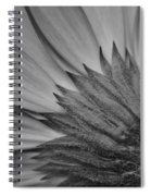Black And White Blossom Spiral Notebook