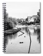 Black And White - Boathouse Row Spiral Notebook