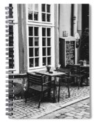 Black And White Cafe Spiral Notebook