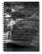 Black And White Cascade Spiral Notebook