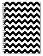 Black And White Chevron Spiral Notebook