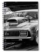 Black And White Chevy Camaro Ss Hotrod Spiral Notebook