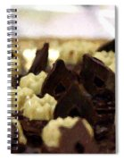 Black And White Chocolate Spiral Notebook