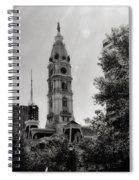 Black And White City Hall Spiral Notebook