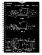 Black And White Corvette Patent Spiral Notebook