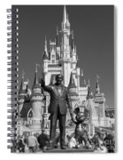 Black And White Disney And Mickey Spiral Notebook