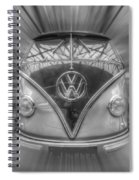 Black And White Dub Spiral Notebook
