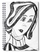 Black And White Fashion Spiral Notebook