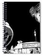 Black And White Festival Night Spiral Notebook