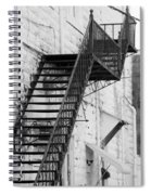 Black And White Fire Escape Usa Near Infrared Spiral Notebook