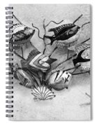 Black And White Fish 1  Spiral Notebook