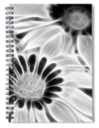 Black And White Florals Spiral Notebook
