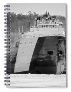 Black And White Freighter Spiral Notebook