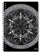 Black And White Gothic Celtic Mermaids Spiral Notebook