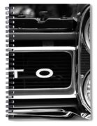 Black And White Gto Spiral Notebook