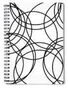 Black And White Hoops Spiral Notebook