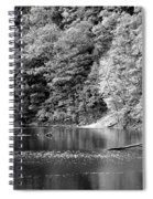 Black And White Landscape Spiral Notebook