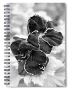 Black And White Maui Flowers Spiral Notebook