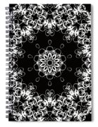 Black And White Medallion 1 Spiral Notebook