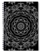 Black And White Medallion 2 Spiral Notebook