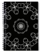 Black And White Medallion 3 Spiral Notebook