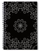 Black And White Medallion 4 Spiral Notebook