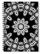 Black And White Medallion 8 Spiral Notebook