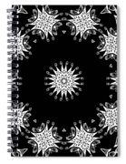 Black And White Medallion 9 Spiral Notebook