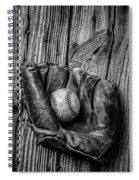 Black And White Mitt Spiral Notebook