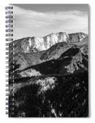 Black And White Mountains Spiral Notebook