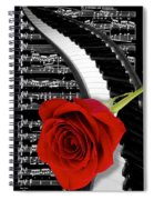 Black And White Music Collage Spiral Notebook