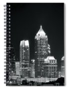 Black And White Night In Atlanta Spiral Notebook