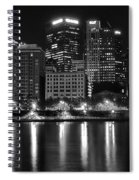Black And White Night In Pa Spiral Notebook
