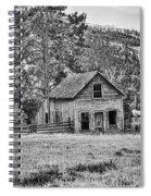 Black And White Old Merritt Farmhouse Spiral Notebook