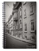 Black And White Old Style Photo Of Old Quebec City Spiral Notebook