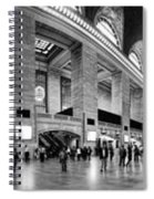 Black And White Pano Of Grand Central Station - Nyc Spiral Notebook