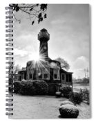 Black And White Philadelphia - Turtle Rock Lighthouse Spiral Notebook