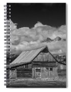Black And White Photo Of The T.a. Moulton Barn In The Grand Tetons Spiral Notebook