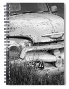 Black And White Photograph A Vintage Junk Chevy Pickup Truck Spiral Notebook