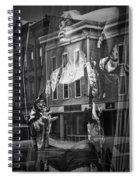 Black And White Photograph Of A Mannequin In Lingerie In Storefront Window Display  Spiral Notebook