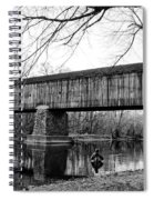 Black And White Schofield Ford Covered Bridge Spiral Notebook
