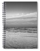 Black And White Seascape Spiral Notebook
