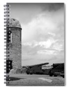 Black And White Sentinel Spiral Notebook