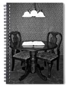 Black And White Sitting Table Spiral Notebook