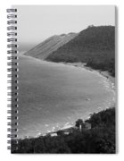 Black And White Sleeping Bear Dunes Spiral Notebook