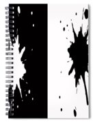 Black And White Splashes Digital Painting Spiral Notebook