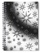 Black And White Suns Spiral Notebook
