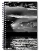 Black And White Sunset Over The Mead Wildlife Area Spiral Notebook
