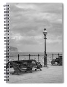 Black And White Swanage Pier Spiral Notebook