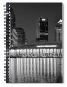 Black And White Tampa Night Spiral Notebook